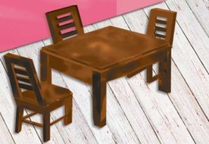 American dining table and chairs